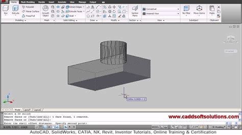 autocad tutorial with commands autocad 3d shell command tutorial autocad 2010 youtube