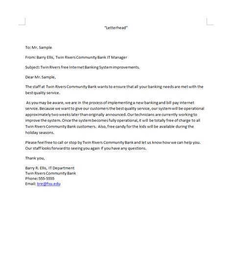 Business Letter Unfortunately Business Letter Template Bad News Sle Business Letter