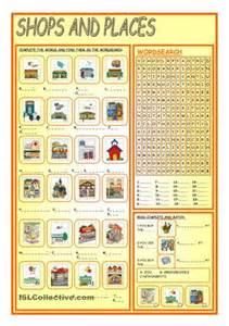 Shops and places worksheet free esl printable worksheets made by
