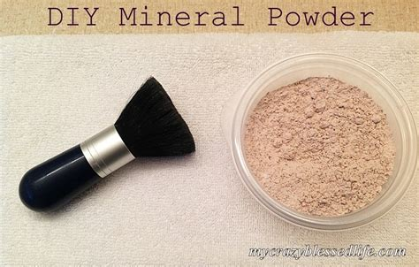Handmade Mineral Makeup - diy powder my blessed