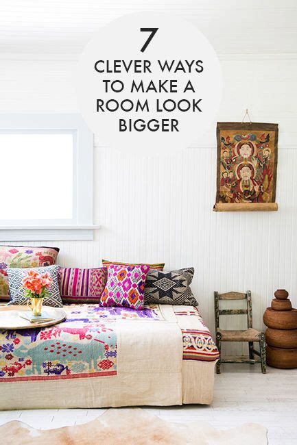 7 ways to make a room look feel bigger day bed make a