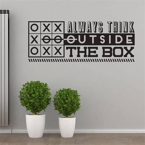 Always Think Outside The Box 2 always think outside the box wall sticker quote wall