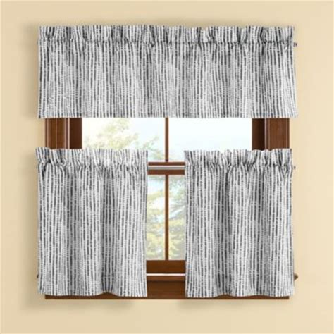 gray tier curtains buy cotton kitchen tier curtains from bed bath beyond