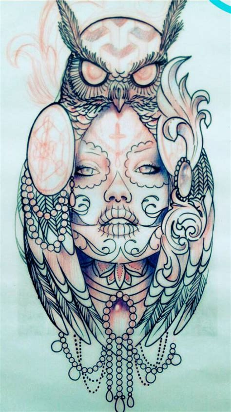 owl and skull tattoo designs best 25 owl tattoos ideas on owl