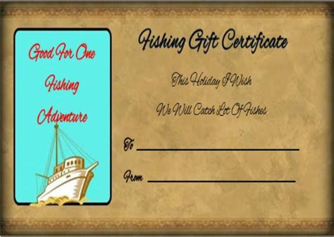fishing gift certificate template 14 free printable fishing gift certificate templates best