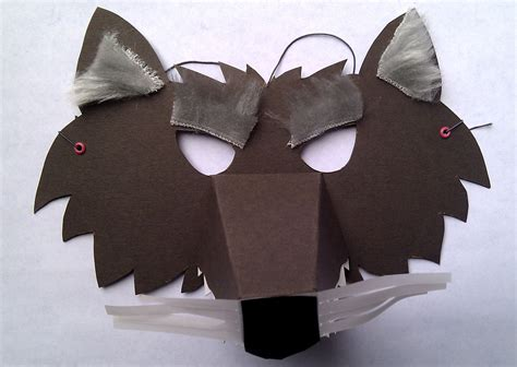 Wolf Paper Plate Craft - 4 wolf mask kits custom listing for melanie twomey