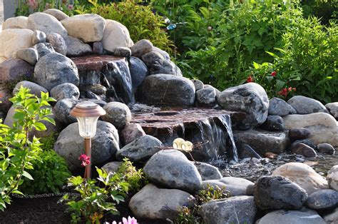 How To Make A Backyard Waterfall by This Grandmother S Garden Building Our Waterfall Part 3
