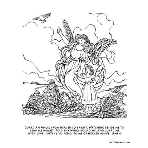 coloring pages guardian angels guardian angel coloring page timeless miracle com