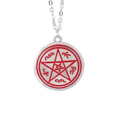 supernatural necklace dean pentagram pentacle rune silver