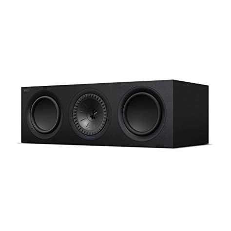 kef q650c center channel speaker each black
