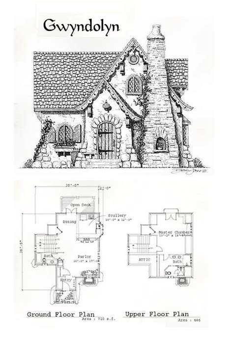 storybook cottage plans the gwyndolyn home plans pinterest cottages manor