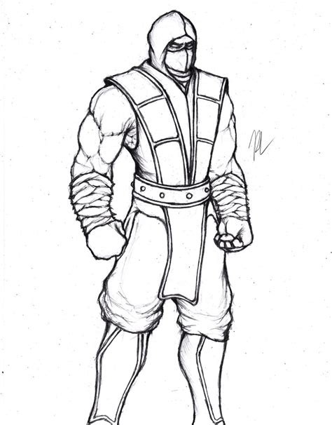 how to draw scorpion from mortal kombat x easy things to how to draw scorpion from mortal kombat x