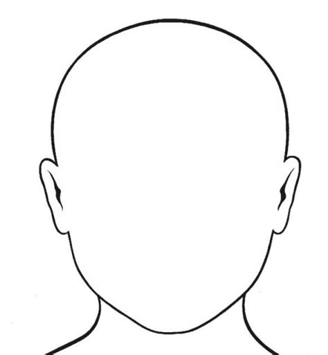 templates for drawing faces blank face template drawing pinterest face template