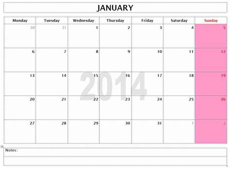 Monthly Calendar 2014 Template 2014 monthly calendar related keywords suggestions
