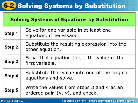 Solving Linear Systems By Substitution Worksheet by 28 Solving System Of Equations By Substitution