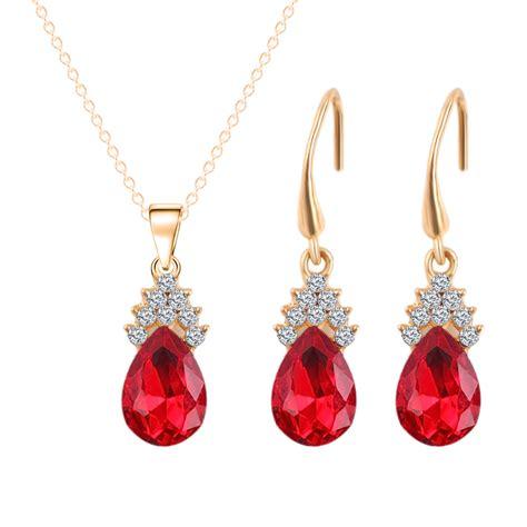 Torio Flower Drops Top Set aliexpress buy gold color austrian necklace
