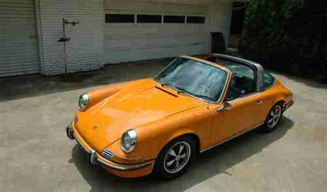 orange porsche targa sell used 1970 porsche 911s targa signal orange in