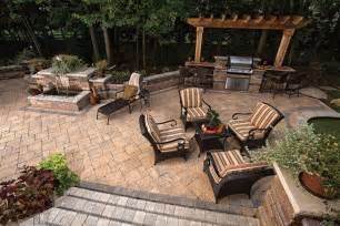 Exterior Patio Baron Landscaping 187 Outdoor Kitchen Contractor Cleveland