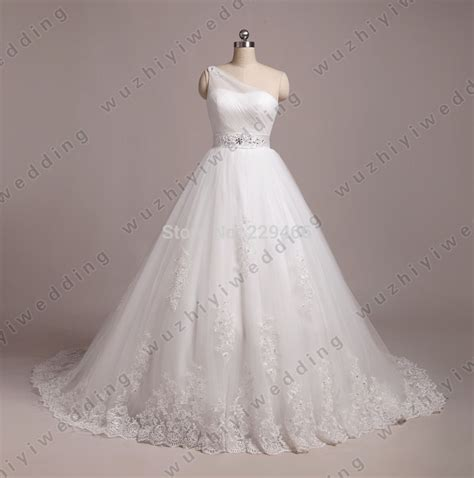 Vintage Wedding Dress Our One by White One Shoulder A Line Wedding Dress Pleated Designer