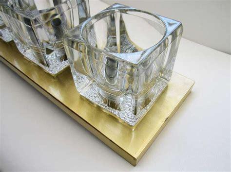 Cube Light Fixture Peill And Putzler Brass And Glass Cube Light Fixture At 1stdibs