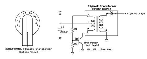 tvs diode flyback ka7oei s with self oscillating tv flyback transformer circuits arcs and high voltage