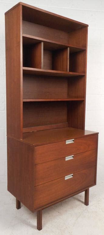 Large Mid Century Modern Standing Wall Unit by Bassett