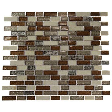 brick pattern mosaic tile splashback tile suede shoe brick pattern 12 in x 12 in x