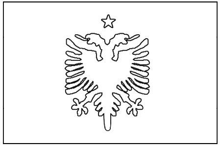 Midisegni It Disegni Da Colorare Per Bambini Albanian Flag Coloring Page
