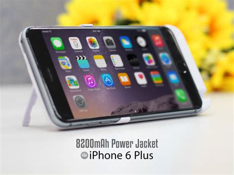 Power On Iphone 6 Plus power jacket for iphone 6 plus 6s plus 8200mah