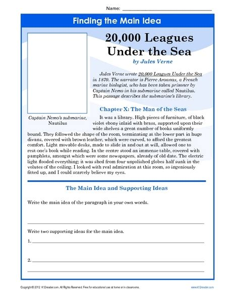 6th grade main idea supporting details lessons tes teach finding the main idea worksheets 10th grade finding the