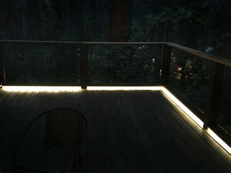 led deck lighting strips 5050 waterproof lights are used on this outdoor deck