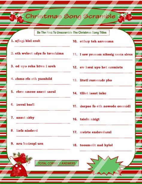 printable christmas scramble games christmas scramble christmas song game by printables4less