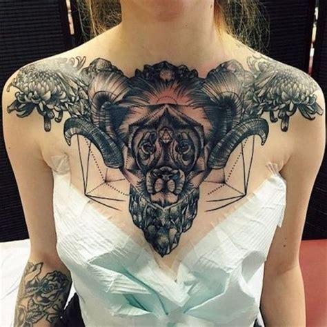 fantastic amazing bull skull tattoo 30 chest design ideas 2018