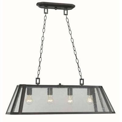 home depot kitchen island lighting world imports bedford 4 light rubbed bronze glass