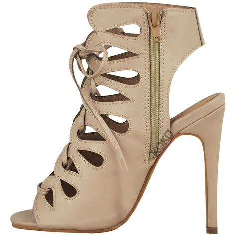 lace up ankle sandals new womens cut out high heel gladiator sandals lace