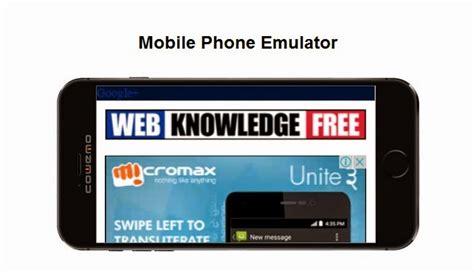 mobile phone emulator best mobile emulators to test your websites web