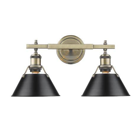 golden lighting 8001 ba2 blk sd golden lighting parrish 2 light black bath light 8001 ba2