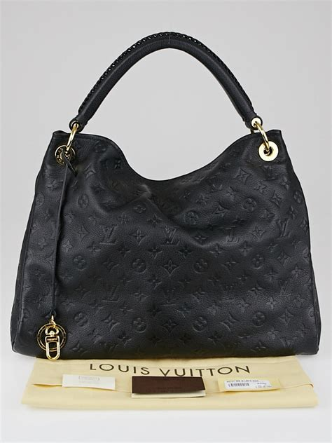 louis vuitton black monogram empreinte leather artsy mm
