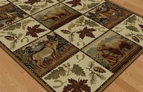 lodge rugs on sale woodland rug collection