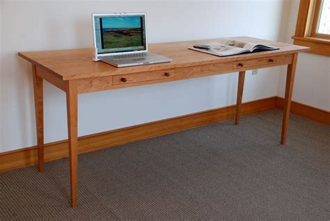 Handcrafted Desk - handmade two person computer desk custom made of cherry