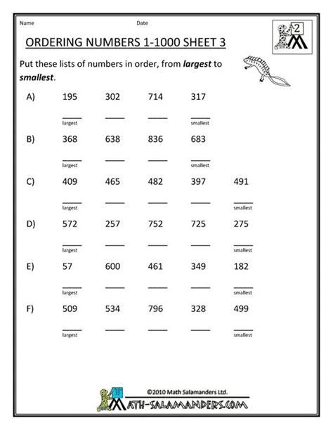 printable math worksheets homeschool homeschool math worksheet ordering numbers to 1000 3