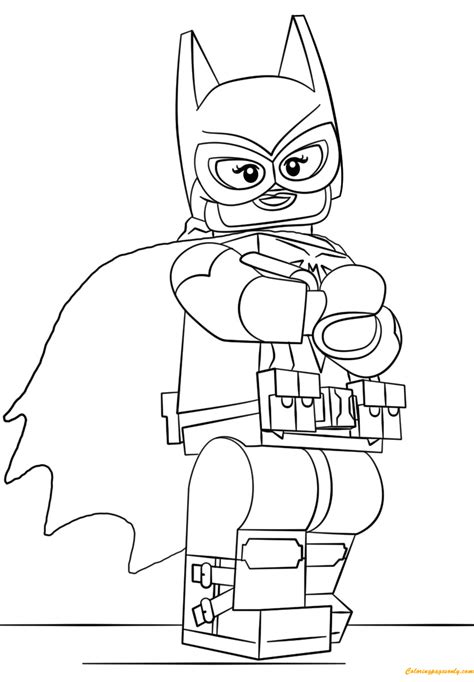 lego coloring pages lego batman batgirl coloring page free coloring pages