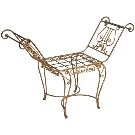vintage metal bench vintage italian gilt metal bench at 1stdibs