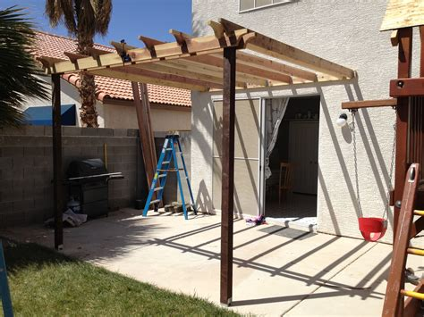 Building A Pergola Attached To House by Ana White Pergola Attached Directly To The House Diy