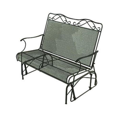 home depot paint glider wrought iron green patio glider discontinued w3929