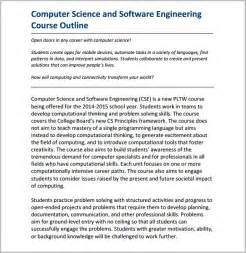 Computer System Engineering Course Outline course outline template 10 free sle exle format free premium templates
