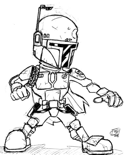 jango fett coloring pages coloring pages