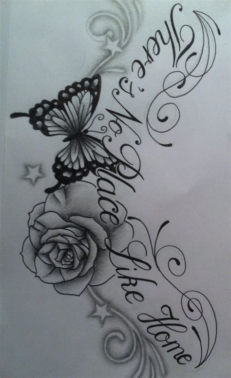 butterfly flower tattoo designs free flower and butterfly design by tattoosuzette on