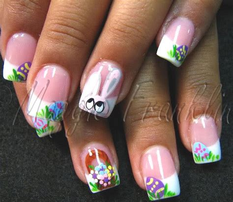 easter nail designs cute easy easter bunny nail ideas family holiday net