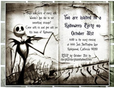 Birthday Invitation Templates Nightmare Before Christmas Birthday Invitations Easytygermke Com Nightmare Before Invitations Templates Free